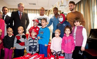 Η επίσκεψη των παικτών του Ολυμπιακού στο ίδρυμα