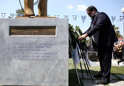 Δωρεά του Β. Μαρινάκη το μνημείο του αφανούς Ναυτικού (photos)