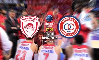 Ολυμπιακός-Τρίκαλα 84-52 (τελικό)