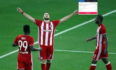 Δύο γκολ ο Ολυμπιακός στο 1,93 στο Stoiximan.gr