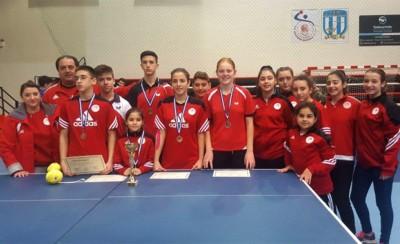 5 μετάλλια για την Ακαδημία Επιτραπέζιας Αντισφαίρισης