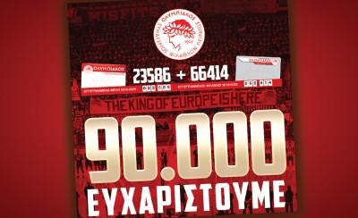 Η δύναμη του Ολυμπιακού περνάει από τα χέρια σας. Φύγαμε για 100.000!