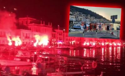 Έγινε η νύχτα... μέρα στο κατακόκκινο Γύθειο (photos, video)