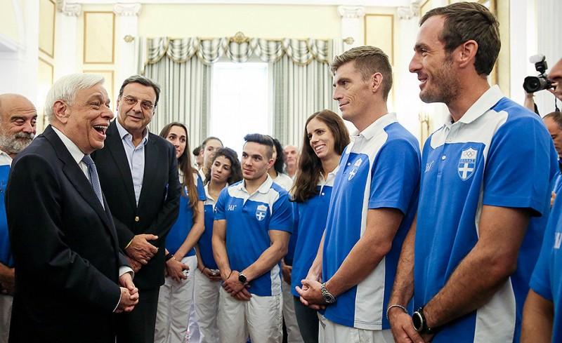 Οι Ολυμπιονίκες στο Προεδρικό Μέγαρο