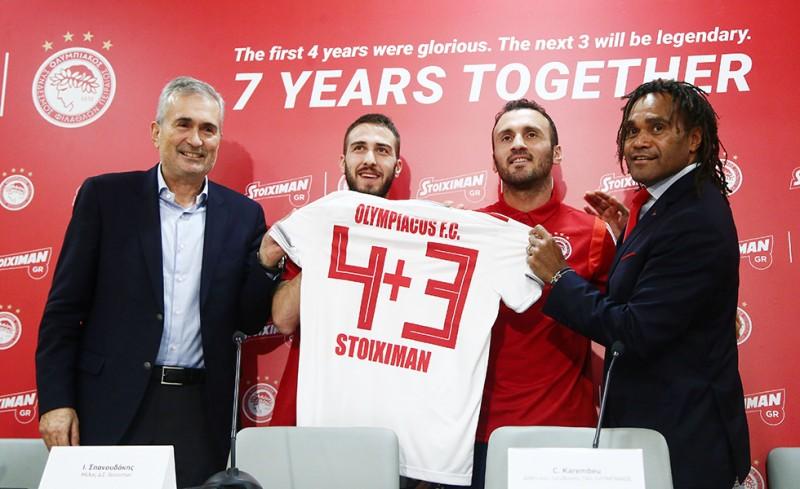 Ολυμπιακός και STOIXIMAN μαζί για άλλα 3 χρόνια
